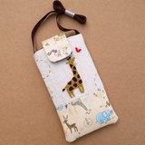 長頸鹿刺繡手機袋(L)
