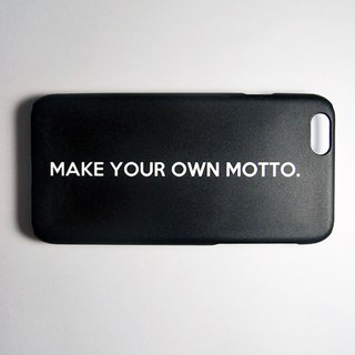 SO GEEK phone shell design brand THE MOTTO GEEK - MAKE YOUR OWN MOTTO subsection (black)