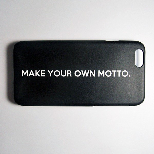 SO GEEK 手機殼設計品牌 THE MOTTO GEEK - MAKE YOUR OWN MOTTO款(黑)