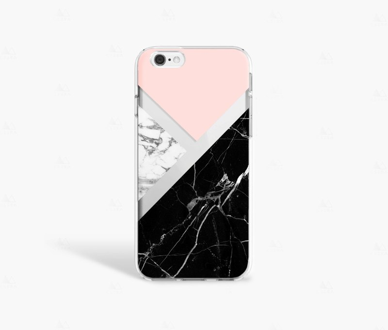 Black Marble iPhone 7 Case Clear iPhone 8 Case iPhone 7 Plus Clear Case