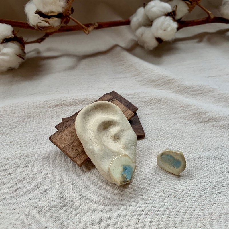 Clay pebbles earrings 5