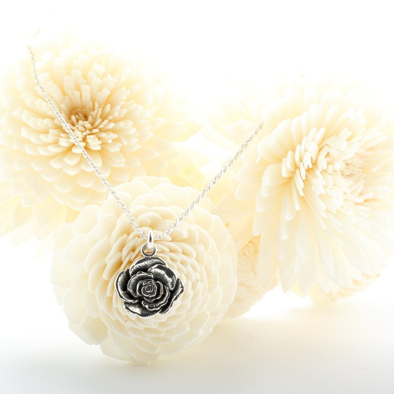 Rose s925 sterling silver necklace Valentine's Day gift