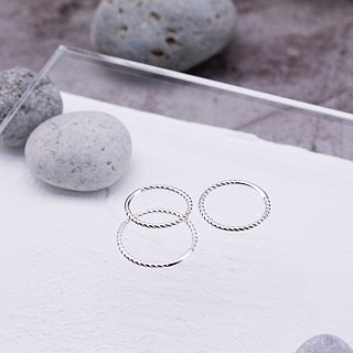 Rotating twist ring in sterling silver (single)
