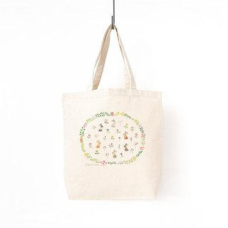 "Together. Tote bag ""The rabbit's peaceful garden"" TB-119"