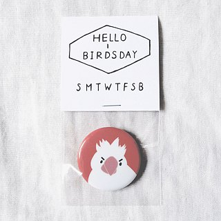 Serious face bird badge / badge / pin / brooch