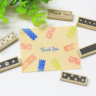 Paper tape wind 1*4 cm rubber stamp / hand stamp / decorative chapter / divider / seal chapter