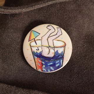 Long Island Ice Tea Jumping Into Rainbow - Badge With Magnet