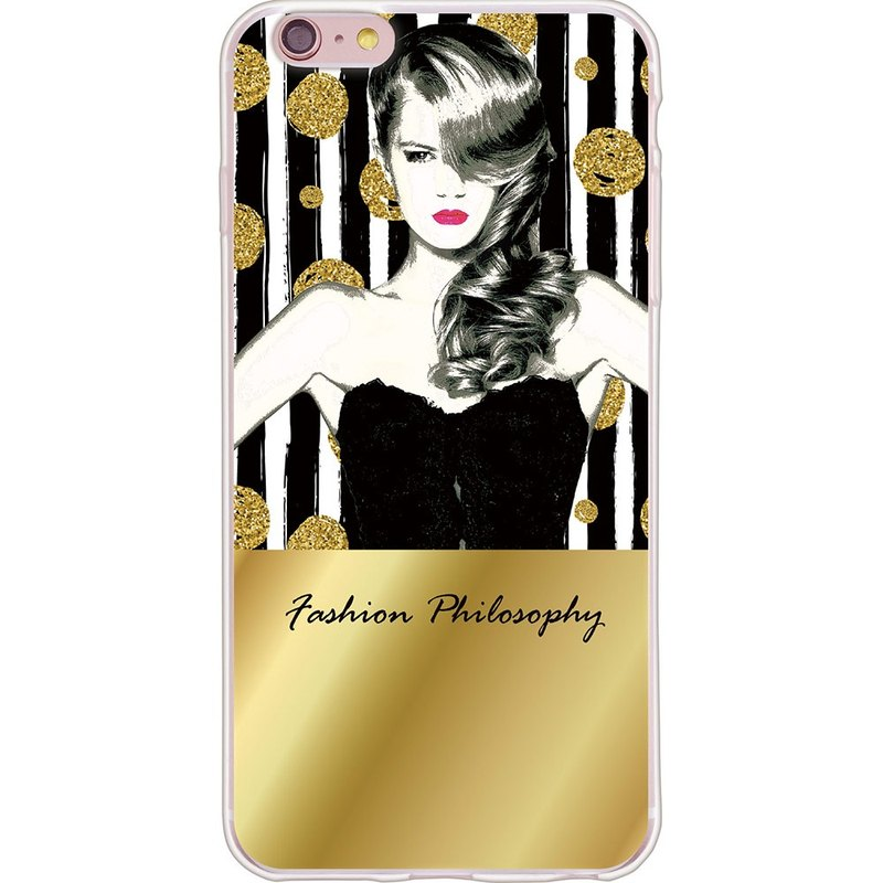 "New series [fashion philosophy (gold)] - 199 Miss-TPU mobile phone protection shell ""iPhone / Samsung / HTC / LG / Sony / millet / OPPO"""