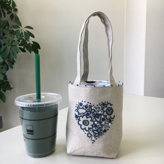 Cafe Bag Heart Flower