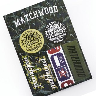 火柴木設計 Matchwood 10th sticker 火柴木十週年限量紀念防水貼紙組(共7小張)