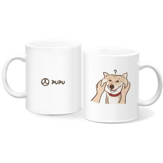 Shiba Inu - pinch face - original illustration - mug - gift custom - fly planet - hand-made market