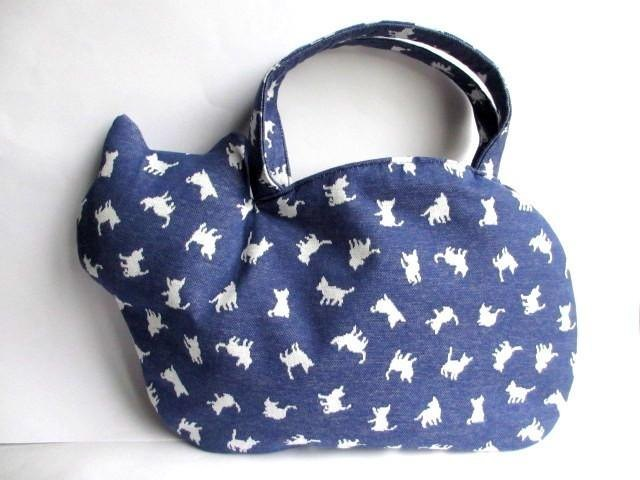 New work New cat child cat pattern cat bag Blue