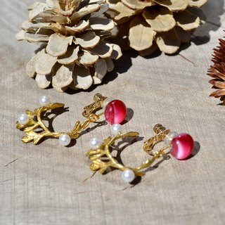 Bo + Feuilles earrings