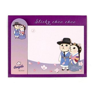 JETOY, sweet cat self adhesive sticky note _Couple J1711307