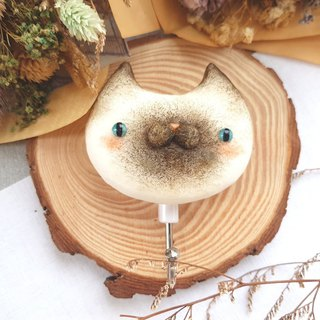 Cat Magnet Hook - (Siamese Cat)