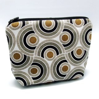 Large flat bottom zipper pouch /cosmetic bag (padded) (ZL-37)