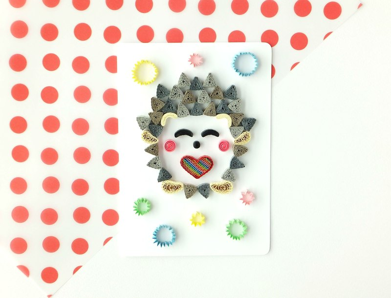 Hand made decorative cards-Hedgehog