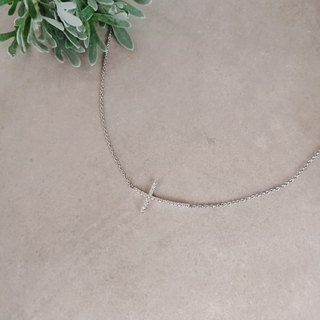 Cross real diamond necklace