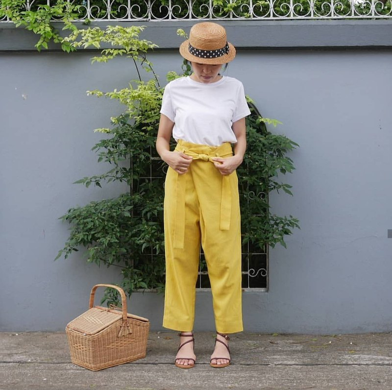 Mellow yellow Happy wrap pants