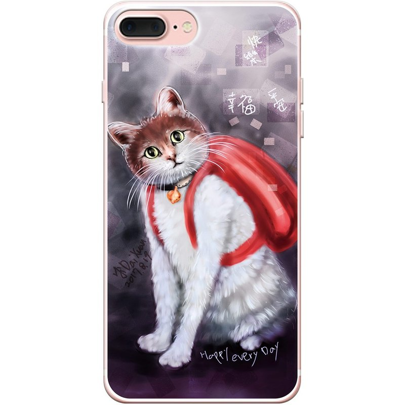 "New generation - [cat face happy years full bag] - Iraq Dai Xuan-TPU phone protection shell ""iPhone / Samsung / HTC / LG / Sony / millet / OPPO"", AA0AF155"