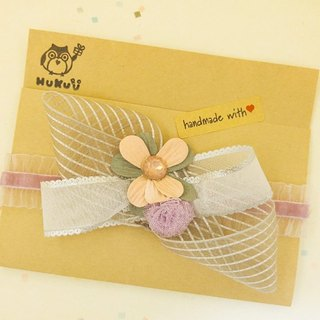 § HUKUROU§ baby baby hair band - bow flower belt