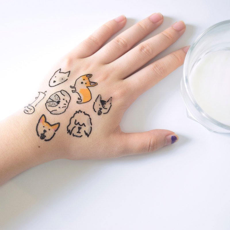Dogs temporary tattoo buy 3 get 1 Cute tattoo party wedding decoration gift