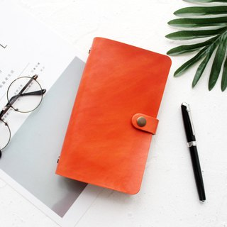 Cowhide Orange Orange Loose-leaf Leather Notebook Handbook Manual Leather Notepad Customization