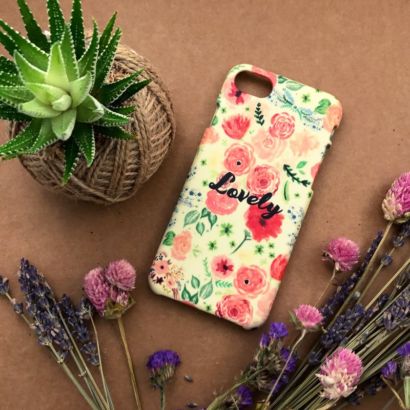 Lovely Retro Yellow Floral. Matte Case( iPhone, HTC, Samsung, Sony, LG, OPPO)