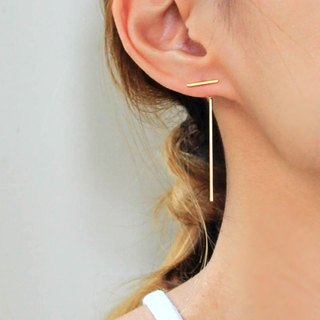 Geo Minimal Bar Ear Jacket, daily earrings, Minimaliste, gifts, dainty chic