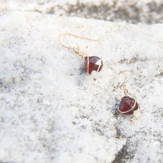Bright red garnet earrings / Bright Red Garnet earring