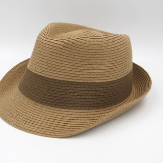 [Paper cloth home] two-color gentleman hat (coffee) paper line weaving