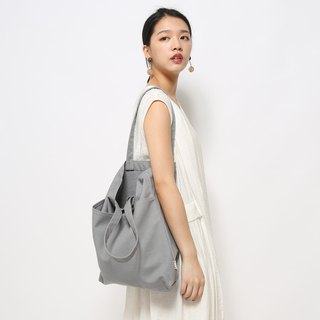 Five bag canvas bag is especially easy to use - all gray