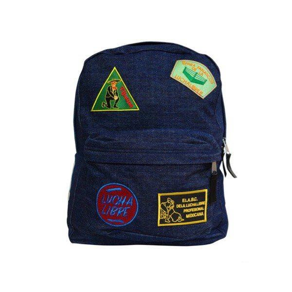 MEXIAN PATCH BACK PACK 補丁貼布水洗牛仔後背包