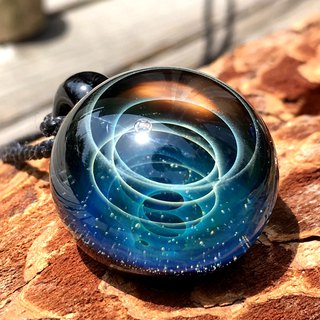 boroccus  A galaxy  The nebula whirlpool design  Thermal glass  Pendant.