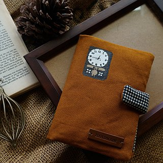 Hand-painted vintage clock passport holder