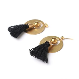 Statement Mika Tassel Earrings - Handmade in worn gold
