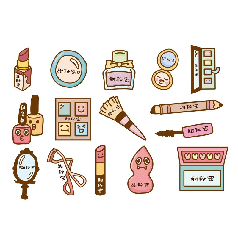 45 enter customized name stickers / cosmetics