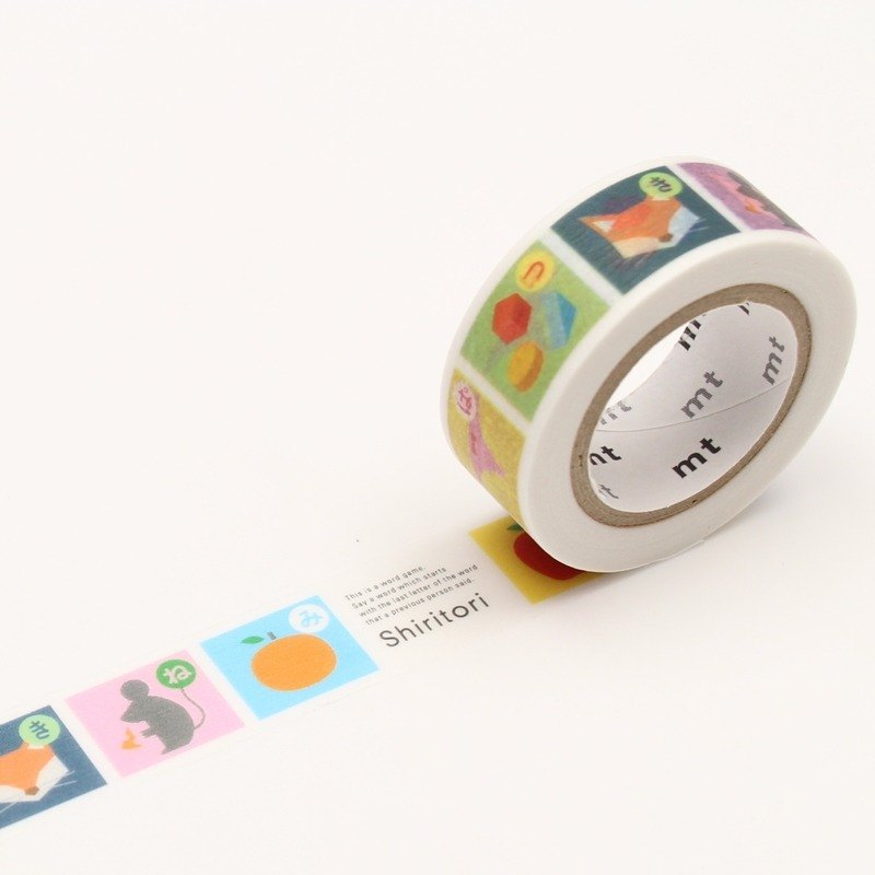 KAMOI mt for kids Masking Tape【Shiritori (MT01KID029)】 2017Summer