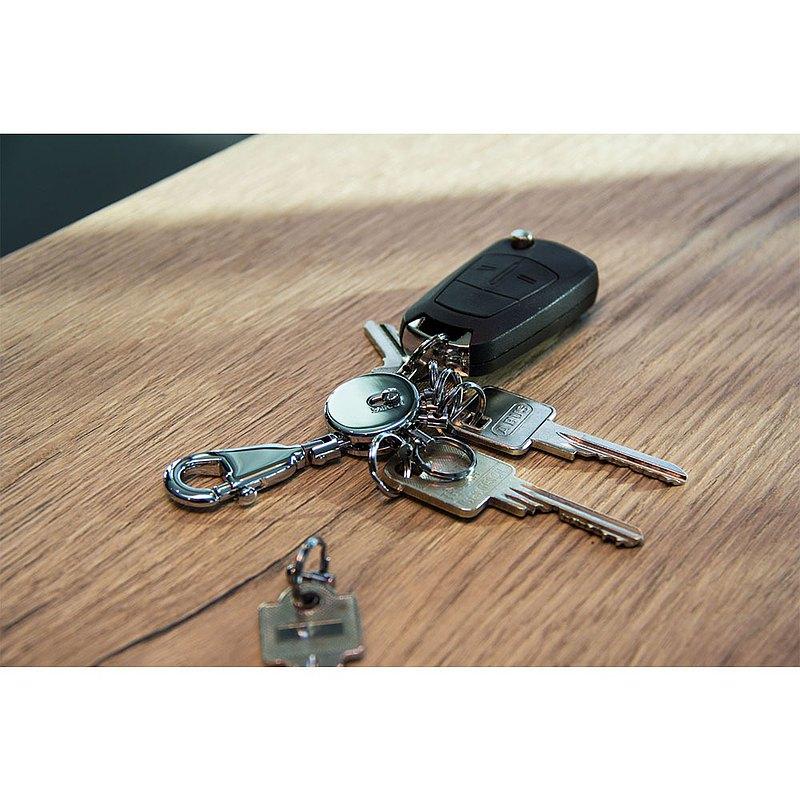 【客製化雷射刻印】不傷手一鍵更換可拆式鑰匙圈(黑槍色)