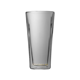 SQUARE Double Cup - Titanium Black 240ml