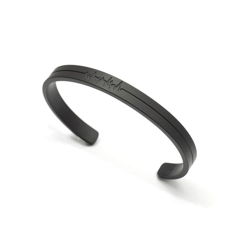 Recovery ECG C-Bangle (Fog Black)
