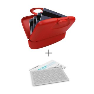 Capsul Case + DUO-LOK  RFID Tabs - Fire Engine Red