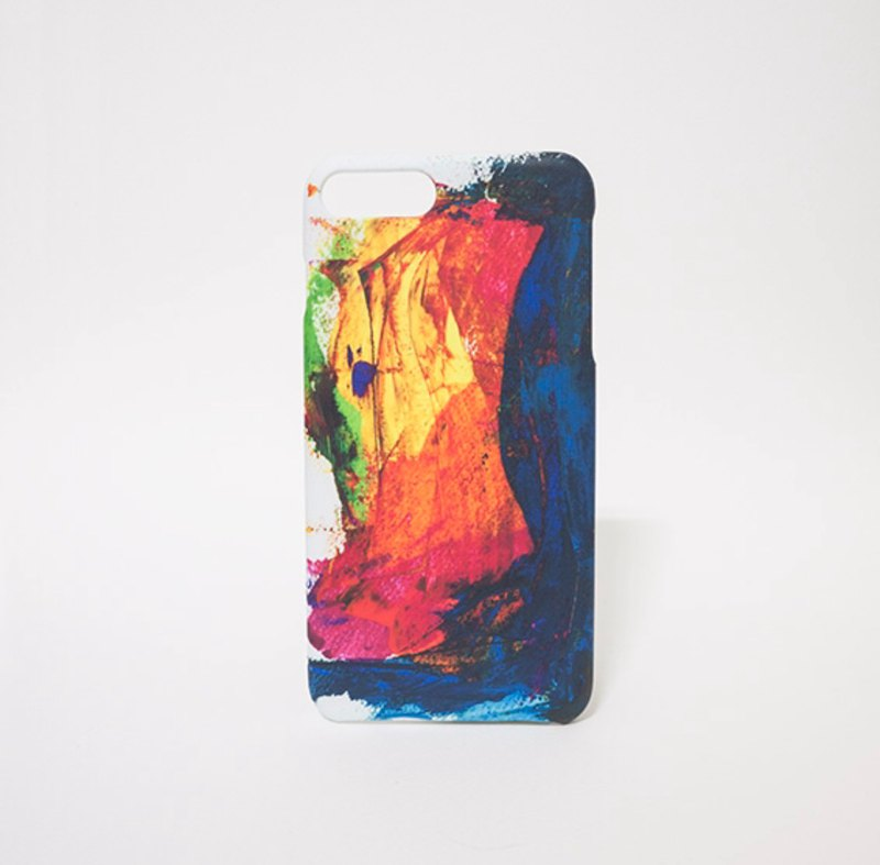 Dark Rainbow / Abstract Painting Transfer Phone Case Matte Hard Shell iPhone Case Custom