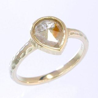 "Japan Quality | 0.91ct Natural Diamond Solitaire Ring ""Apricot"" 10K YG"