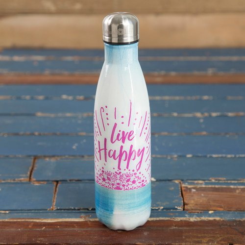 Stainless steel insulation / cold water bottle -Live Happy∣WB021