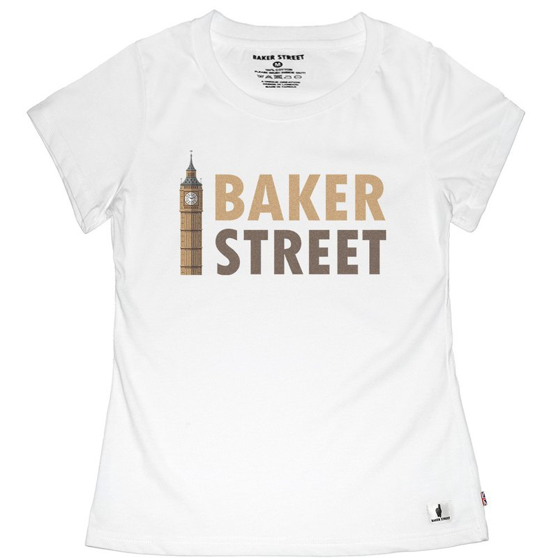 British Fashion Brand -Baker Street- Big Ben Printed T-shirt
