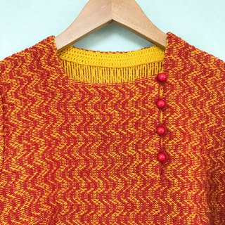Sweater / Tangerine Orange Japanese Style Sweater