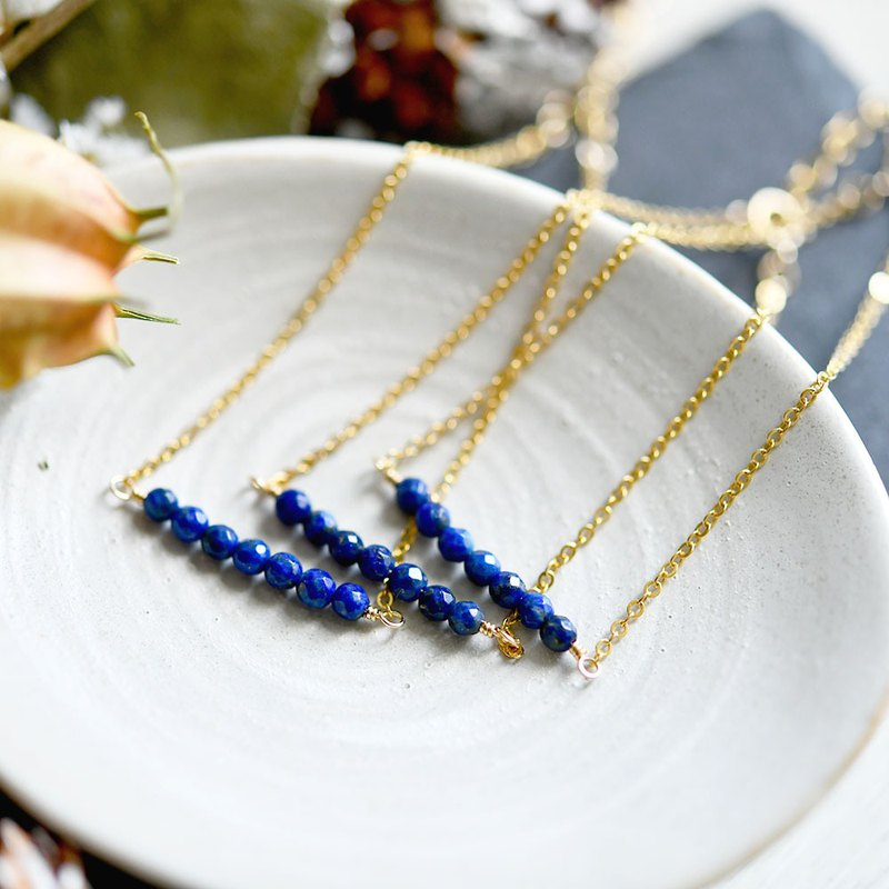 Good luck and good luck UP, lead to success Lapis lazuli lucky 7 bracelet December birth stone single item