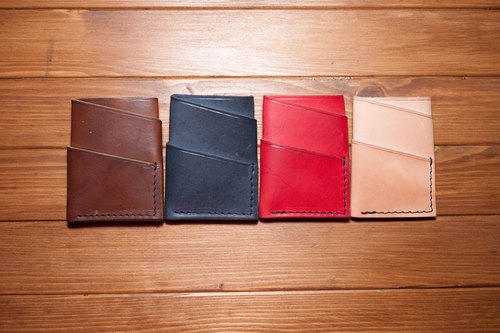 Dreamstation leather Pao Institute, soft vegetable tanned leather handmade cards, business card holder, money clip