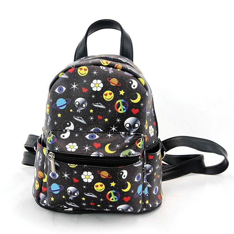 Ashley. M - Alien Collage Mini Backpack